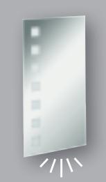 Fackelmann Spiegel Karo 40 cm LED-Beleuchtung und Ambientebeleuchtung