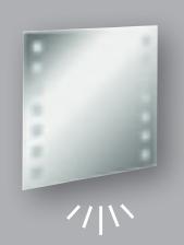 Fackelmann Spiegel Karo 80 cm LED-Beleuchtung und Ambientebeleuchtung