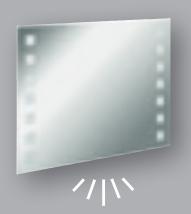 Fackelmann Spiegel Karo 100 cm LED-Beleuchtung und Ambientebeleuchtung