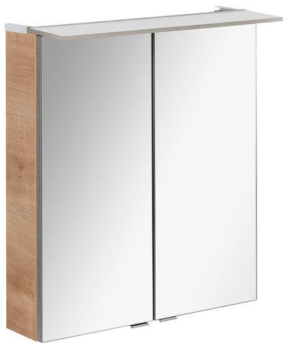 Fackelmann B.perfekt LED Spiegelschrank 6,2 Watt 60 cm Breite Farbe Ast-Eiche