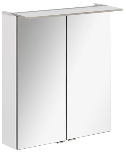 Fackelmann B.perfekt LED Spiegelschrank 6,2 Watt 60 cm Breite Farbe Weiß