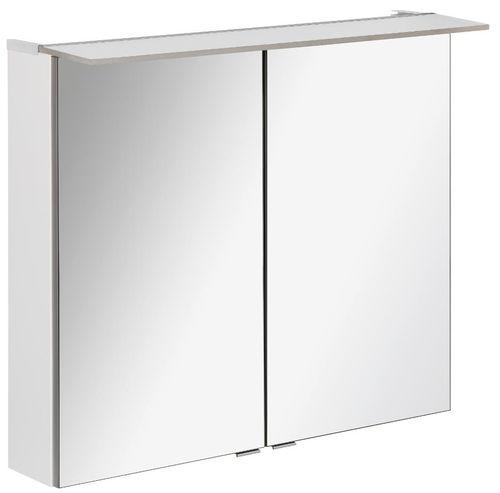 Fackelmann B.perfekt LED Spiegelschrank 6,2 Watt 80 cm Breite Farbe Weiß