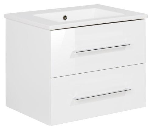 Fackelmann B.perfekt Waschtisch mit Unterschrank 60cm Farbe Weiß