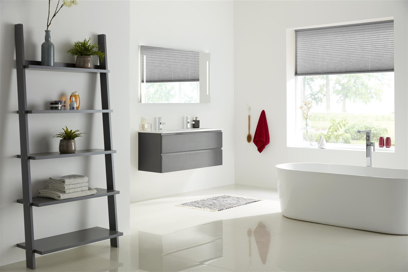 Thebalux Typ20 Badezimmer Möbel 20cm Spiegel/Schrank/Waschtisch/Farbe  wählbar