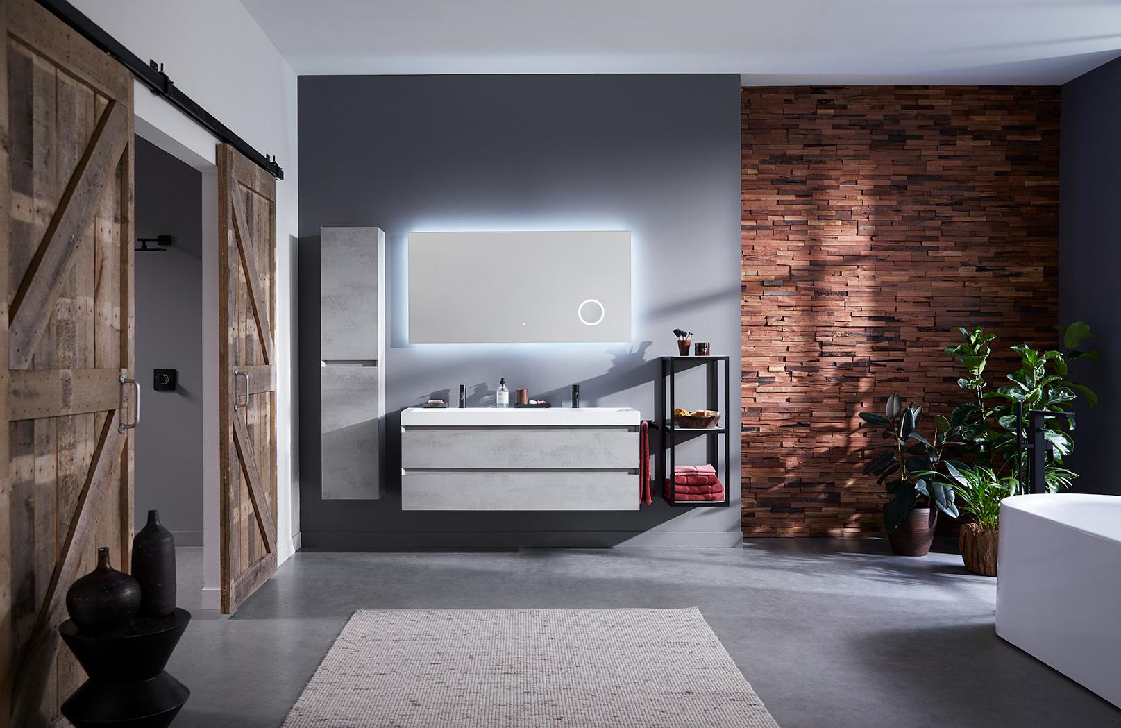 Thebalux Typ20 Badezimmer Möbel 1201cm Spiegel/Schrank/Waschtisch/Farbe  wählbar